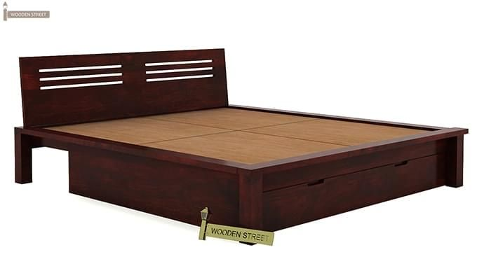 Lynet Bed With Storage (King Size, Mahogany Finish)-5