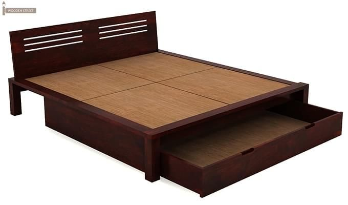 Lynet Bed With Storage (King Size, Mahogany Finish)-6