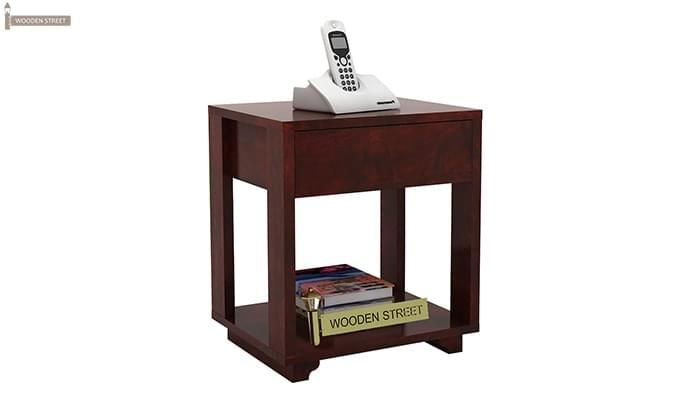 Lynet Bedside Table (Mahogany Finish)-6