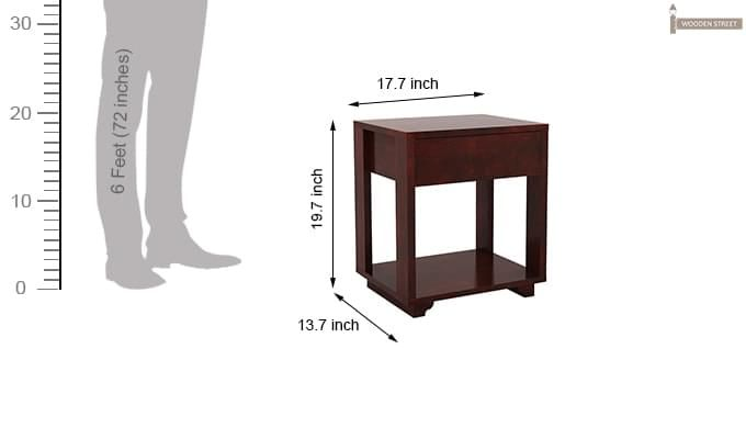 Lynet Bedside Table (Mahogany Finish)-7