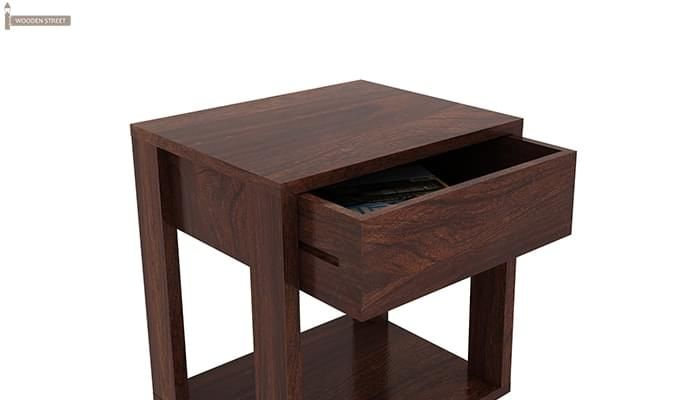 Lynet Bedside Table (Walnut Finish)-3