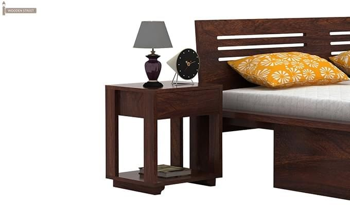 Lynet Bedside Table (Walnut Finish)-1