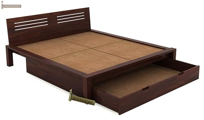 Lynet Bed With Storage (Queen Size, Walnut Finish)-6