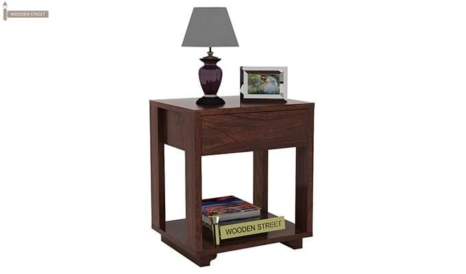 Lynet Bedside Table (Walnut Finish)-4