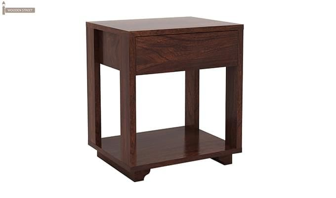 Lynet Bedside Table (Walnut Finish)-5