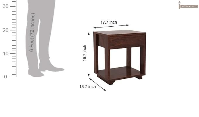 Lynet Bedside Table (Walnut Finish)-6