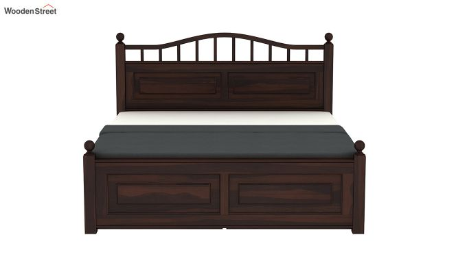 Madison Bed With Storage (Queen Size, Walnut Finish)-5