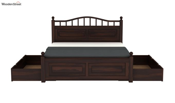 Madison Bed With Storage (Queen Size, Walnut Finish)-8
