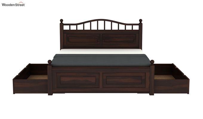 Madison Bed With Storage (King Size, Walnut Finish)-8