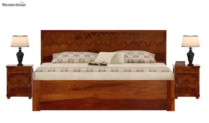 Montana Bed With Storage (King Size, Honey Finish)-3