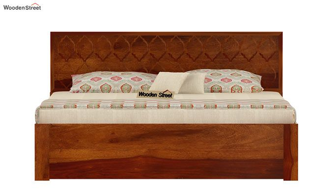 Montana Bed With Storage (King Size, Honey Finish)-5