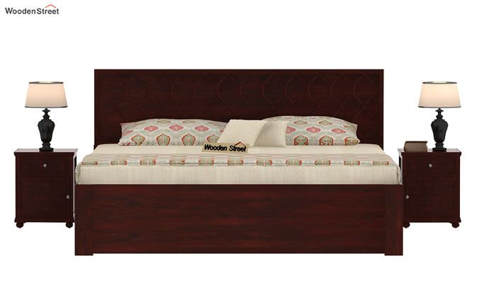 Montana Bed With Storage (Queen Size, Mahogany Finish)-2