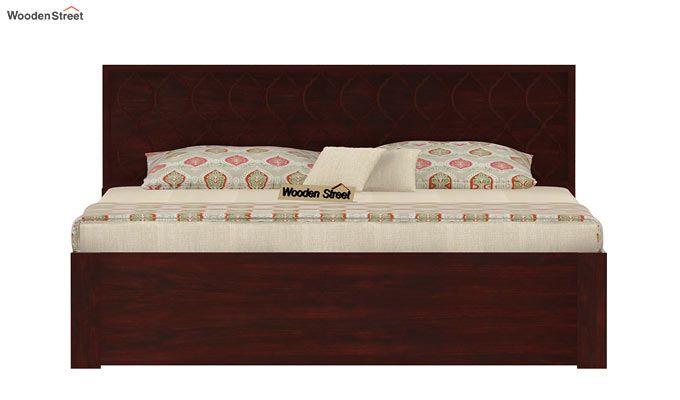 Montana Bed With Storage (Queen Size, Mahogany Finish)-4