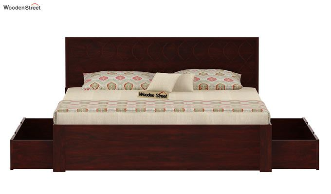 Montana Bed With Storage (Queen Size, Mahogany Finish)-6