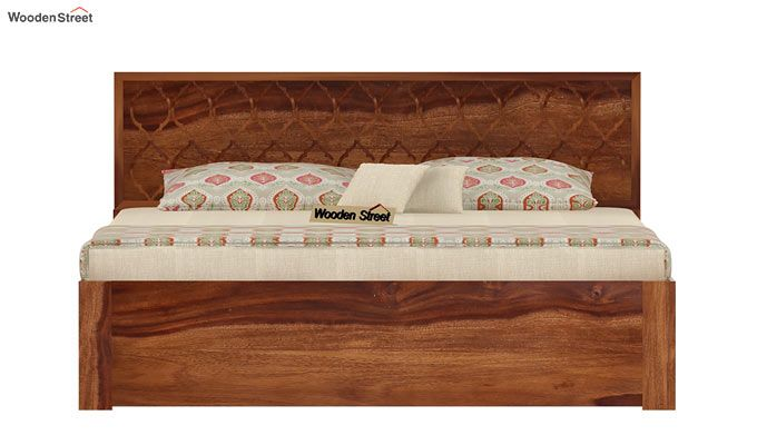Montana Bed With Storage (King Size, Teak Finish)-4