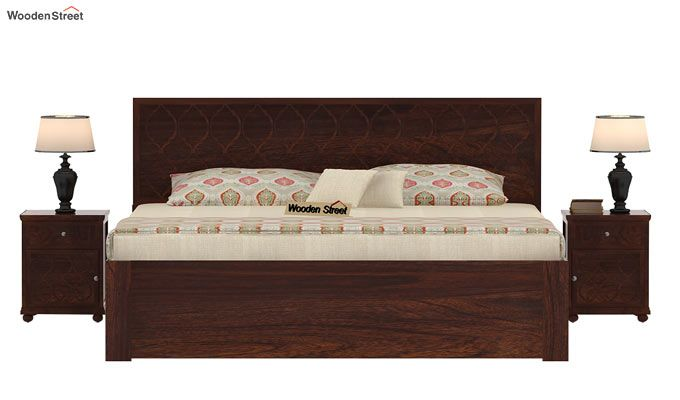 Montana Bed With Storage (Queen Size, Walnut Finish)-2