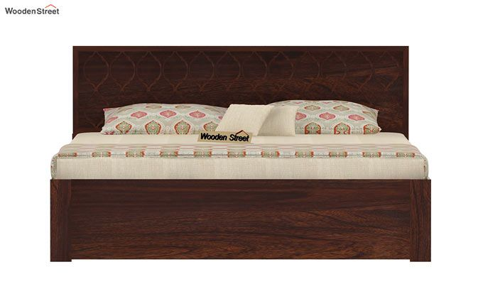 Montana Bed With Storage (Queen Size, Walnut Finish)-4