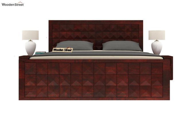 Morse Bed With Storage (Queen Size, Mahogany Finish)-2