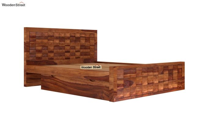 Morse Bed With Storage (Queen Size, Teak Finish)-6