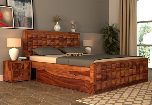 queen size double bed with storage online India