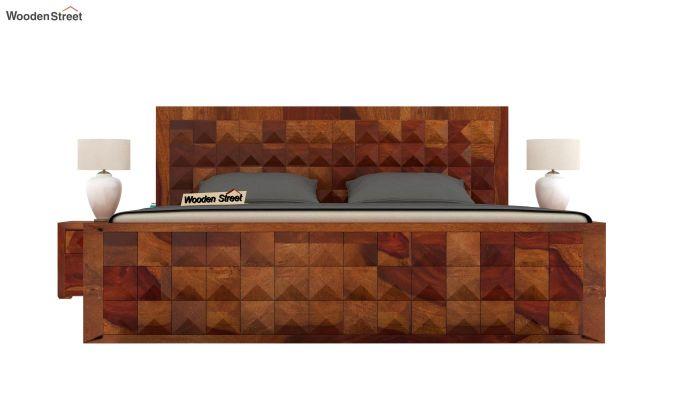 Morse Bed With Storage (King Size, Honey Finish)-2