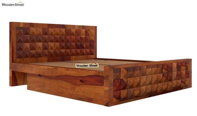 Morse Bed With Storage (King Size, Honey Finish)-5