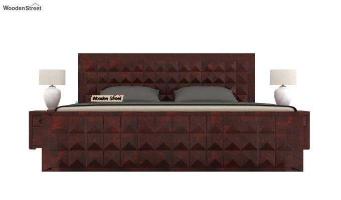 Morse Bed With Storage (King Size, Mahogany Finish)-2