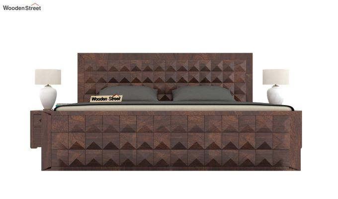 Morse Bed With Storage (King Size, Walnut Finish)-2
