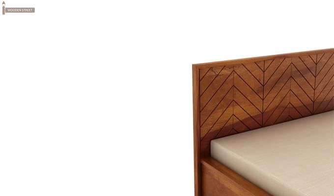 Neeson Hydraulic Bed (Queen Size, Honey Finish)-6
