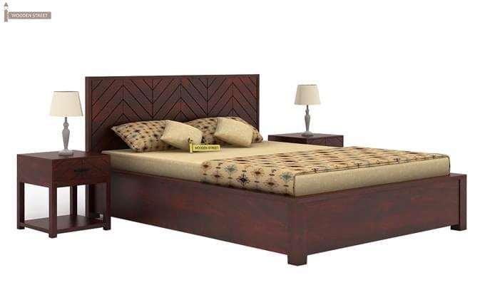 Neeson Hydraulic Bed (King Size, Mahogany Finish)-1
