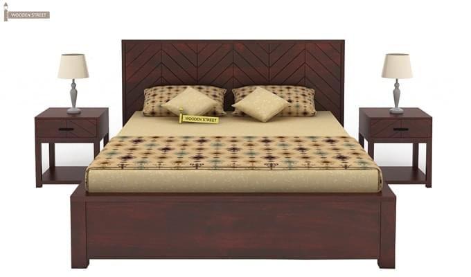 Neeson Hydraulic Bed (King Size, Mahogany Finish)-2