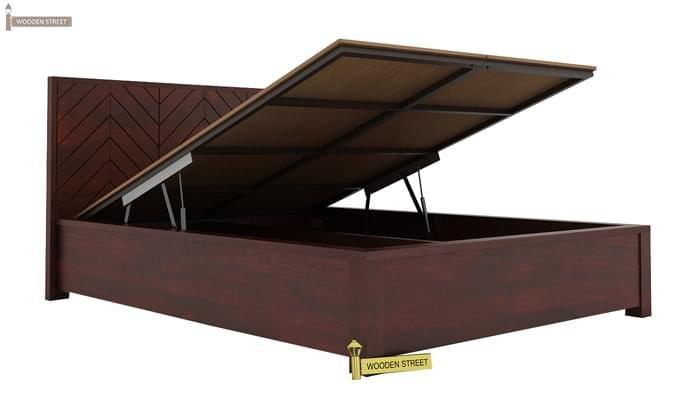 Neeson Hydraulic Bed (King Size, Mahogany Finish)-3