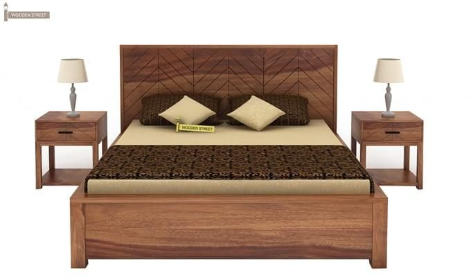 Neeson Hydraulic Bed (King Size, Teak Finish)-2