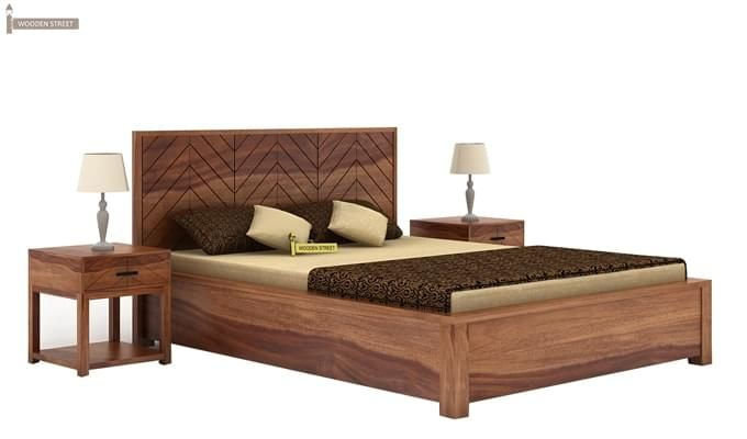 Neeson Hydraulic Bed (King Size, Teak Finish)-1