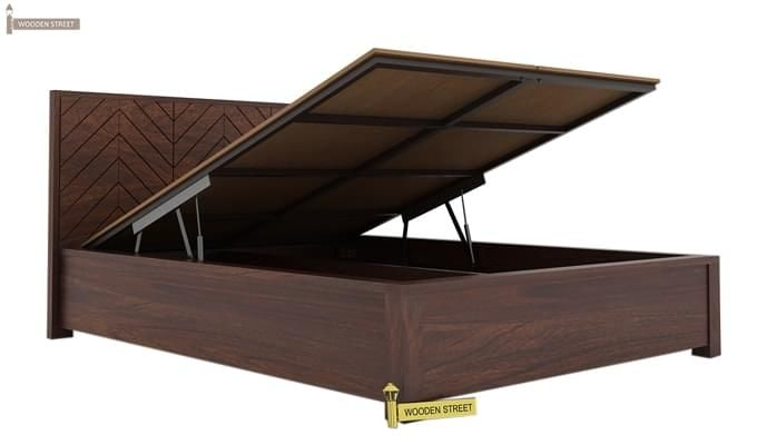 Neeson Hydraulic Bed (Queen Size, Walnut Finish)-3
