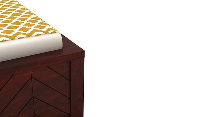 Neeson Bed With Storage (King Size, Mahogany Finish)-8
