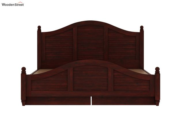 Nordic Bed With Storage (King Size, Mahogany Finish)-8