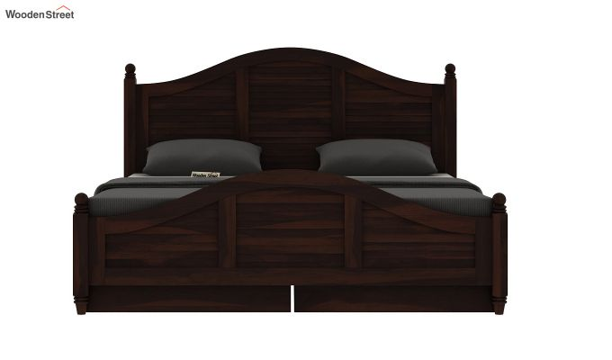 Nordic Bed With Storage (Queen Size, Walnut Finish)-3