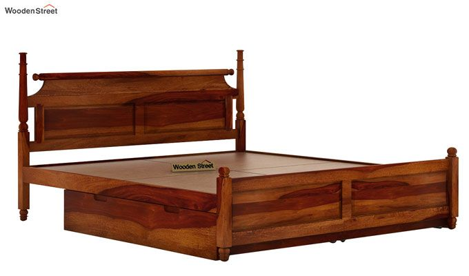 Oriel Bed With Storage (King Size, Honey Finish)-6
