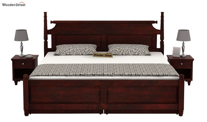 Oriel Bed With Storage (King Size, Mahogany Finish)-2
