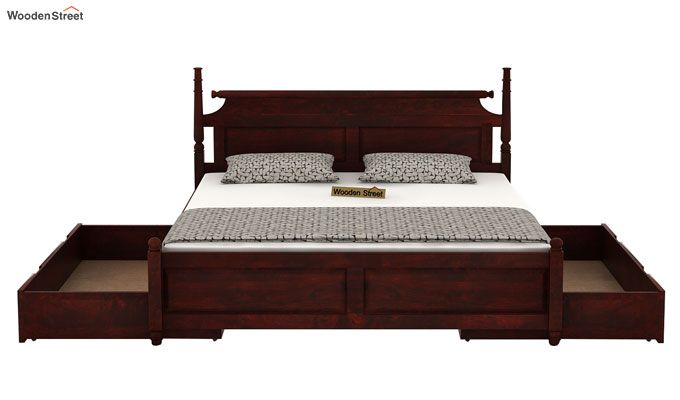 Oriel Bed With Storage (King Size, Mahogany Finish)-5