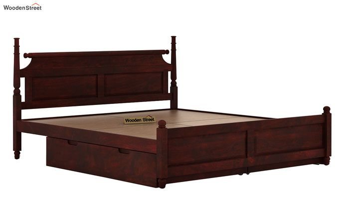 Oriel Bed With Storage (Queen Size, Mahogany Finish)-6