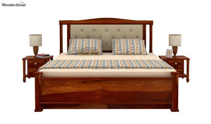 Ornat Bed With Storage (King Size, Honey Finish)-3