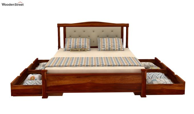 Ornat Bed With Storage (Queen Size, Honey Finish)-5