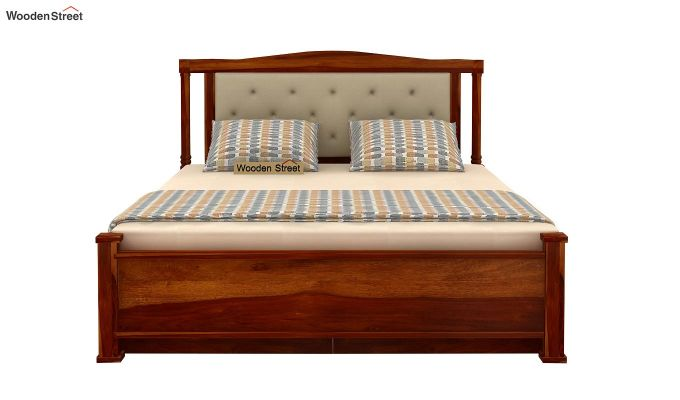 Ornat Bed With Storage (Queen Size, Honey Finish)-7