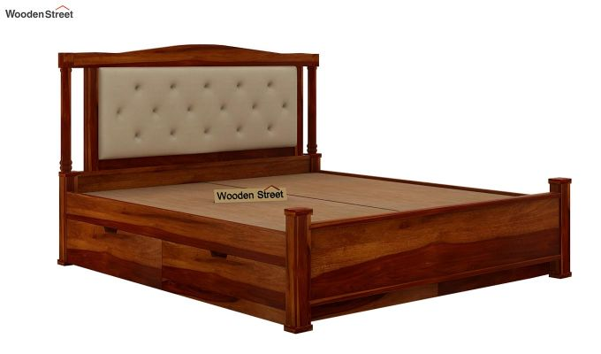 Ornat Bed With Storage (Queen Size, Honey Finish)-8