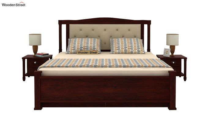 Ornat Bed With Storage (Queen Size, Mahogany Finish)-2