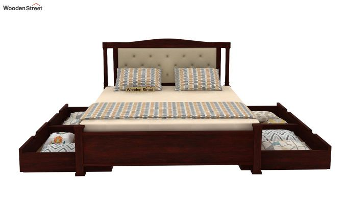 Ornat Bed With Storage (Queen Size, Mahogany Finish)-4