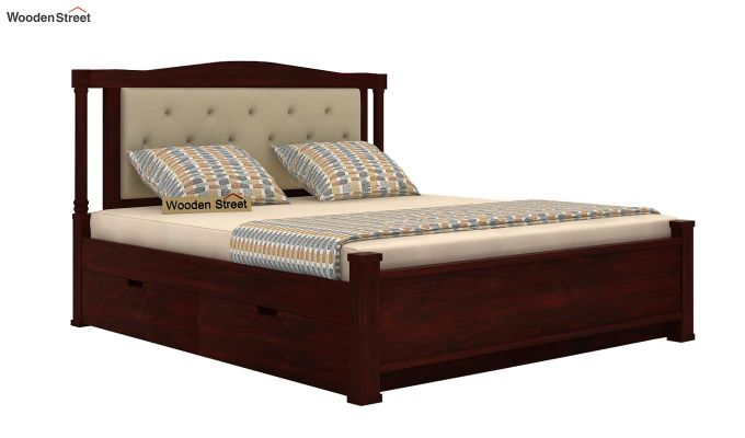 Ornat Bed With Storage (Queen Size, Mahogany Finish)-5