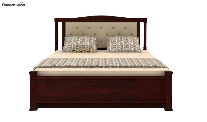 Ornat Bed With Storage (Queen Size, Mahogany Finish)-6